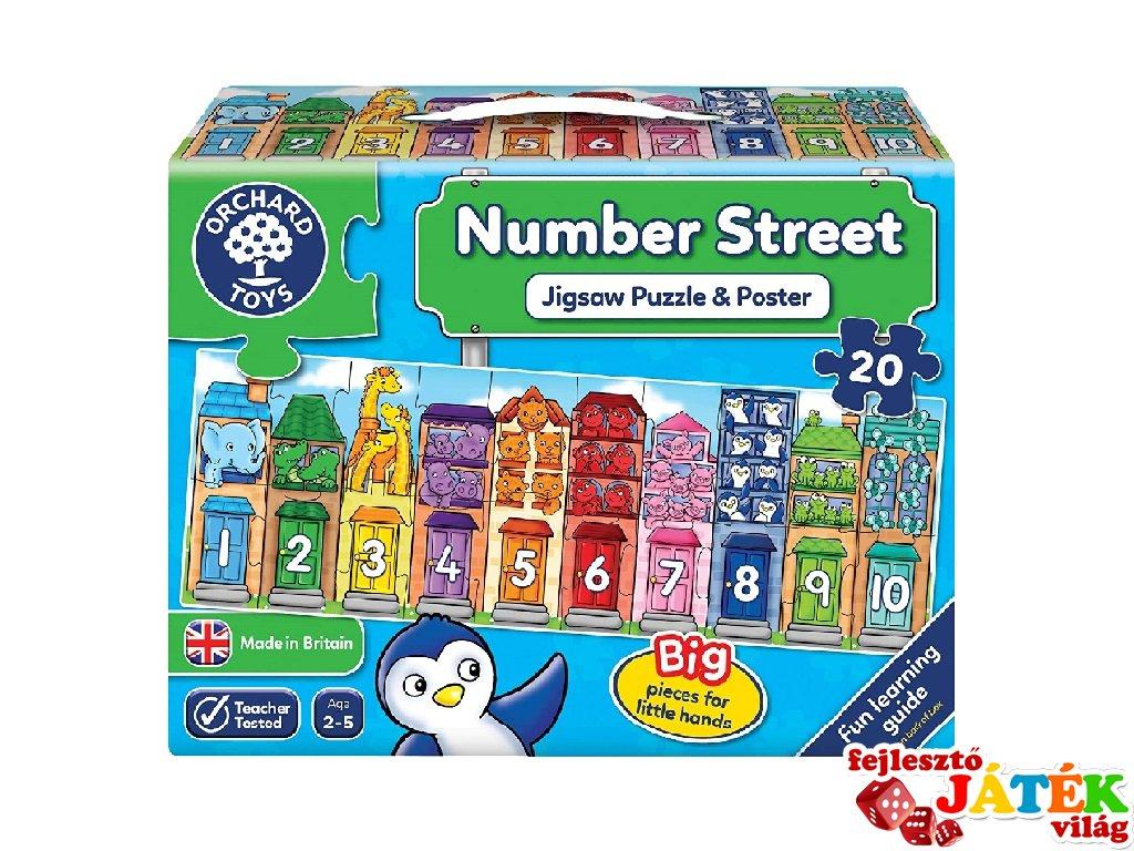Szám utca, számolási készséget fejlesztő társasjáték (OR, 2-5 év)