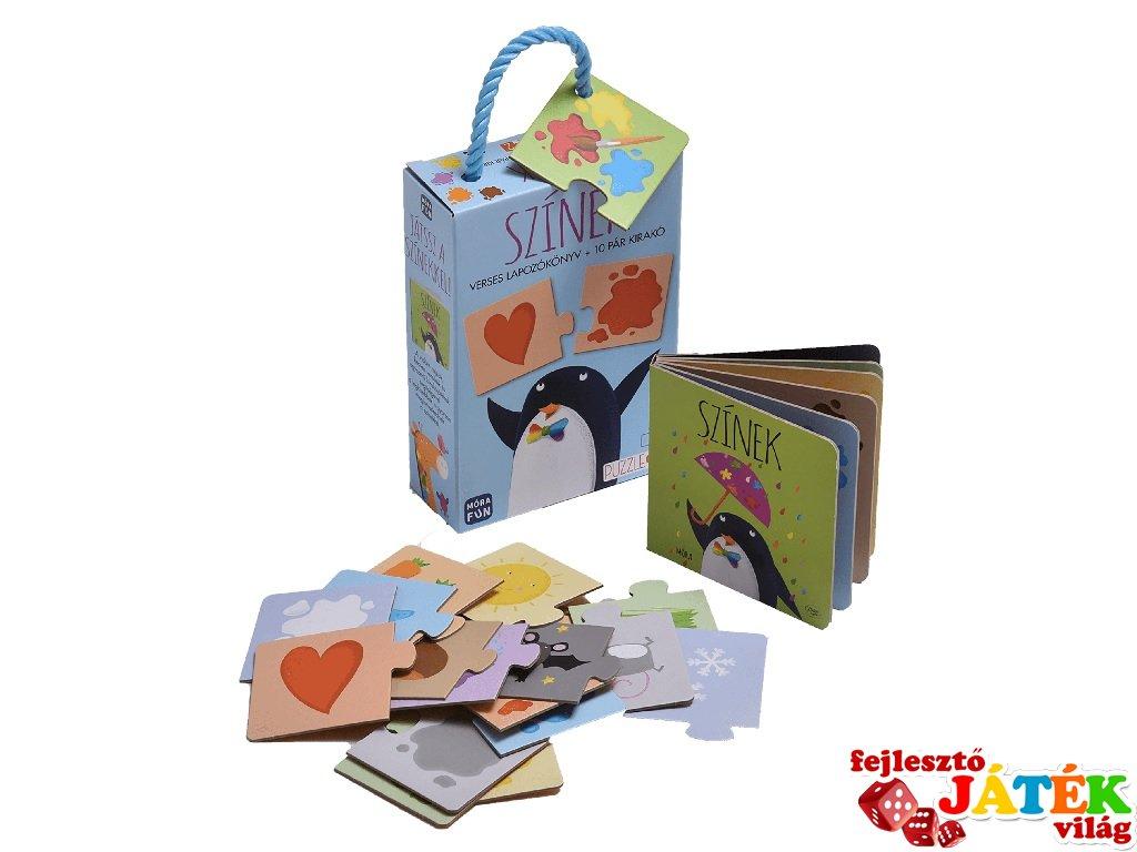 Színek Verses lapozókönyv +10 pár kirakó, Játssz a színekkel! (MO, 3-5 év)