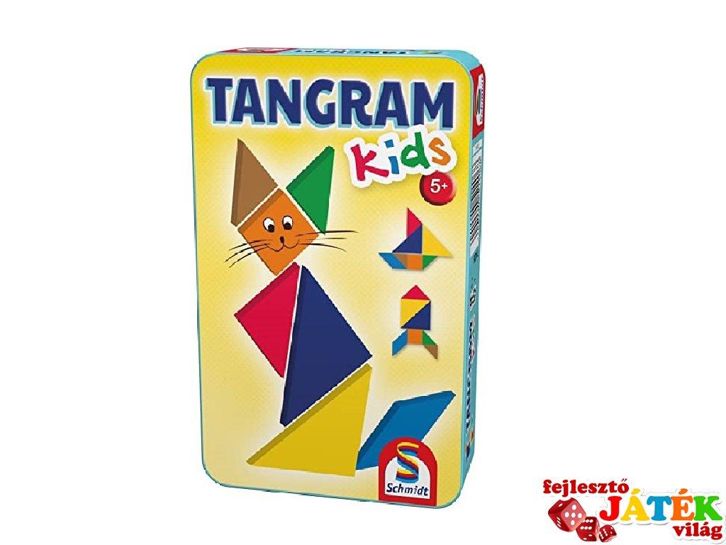 Tangram Kids, fémdobozos logikai utazójáték (5-10 év)