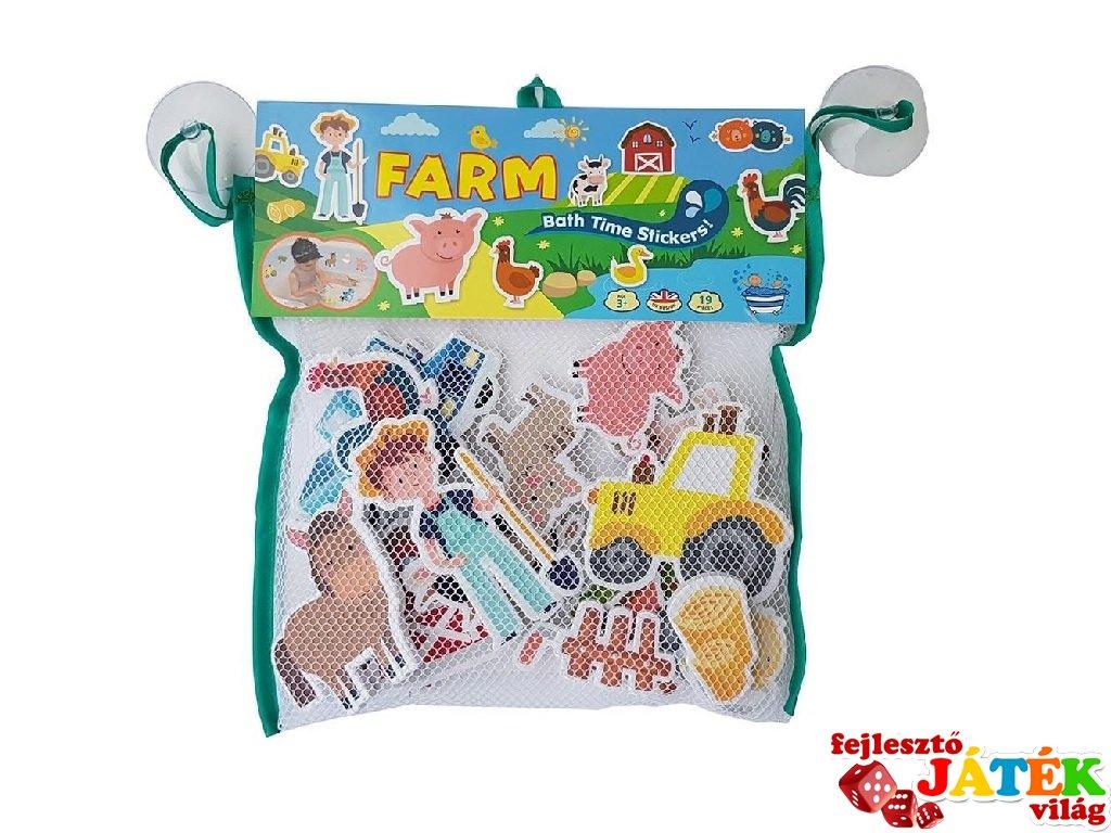 Tapassz a csempére! Farm, fürdőjáték (3-6 év)