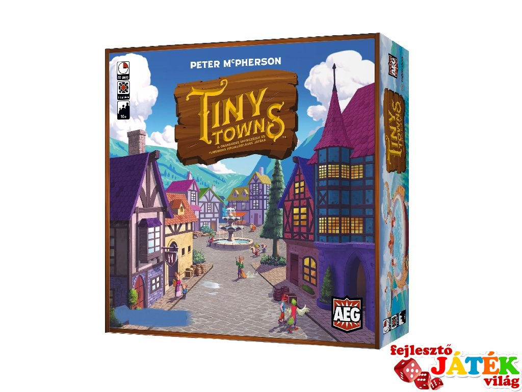 Tiny Towns, tetrisz típusú társasjáték (10-99 év)