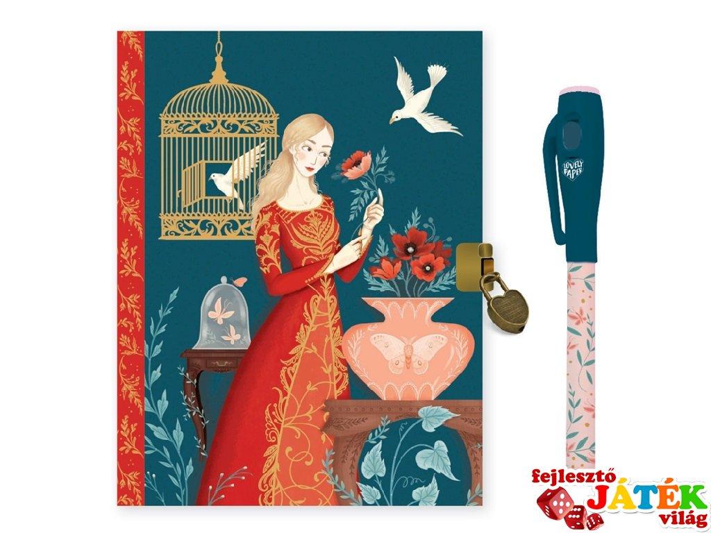 Titkos napló mágikus filctollal Lisa, Lovely Paper Djeco, papír írószer - 3615