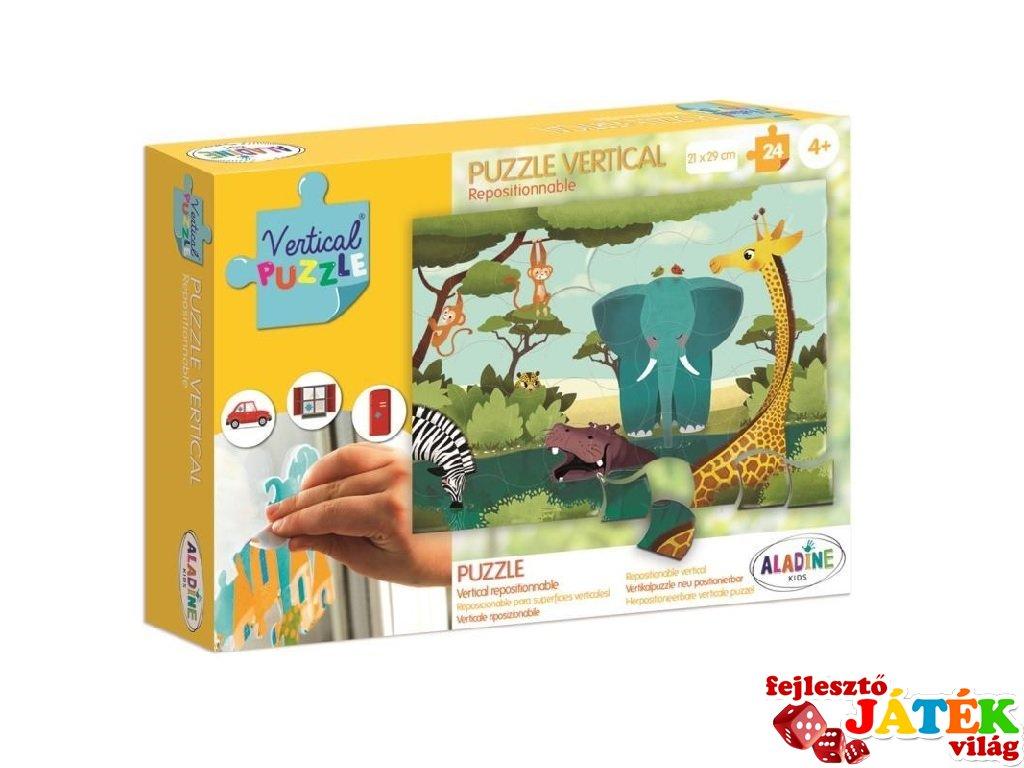 Újrarakható, ablakon használható, 24 db-os puzzle - Szavanna (AL, 4-6 év)
