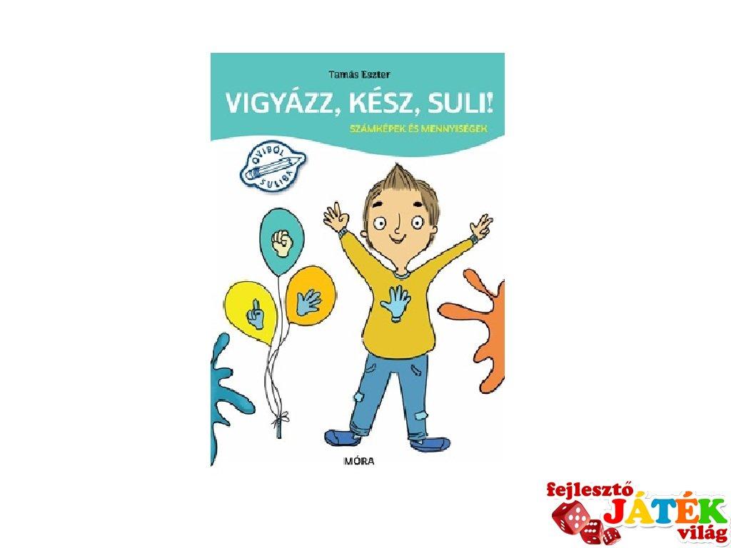Vigyázz, kész, suli! Számképek és mennyiségek, készségfejlesztő könyv (MO, 4-6 év)