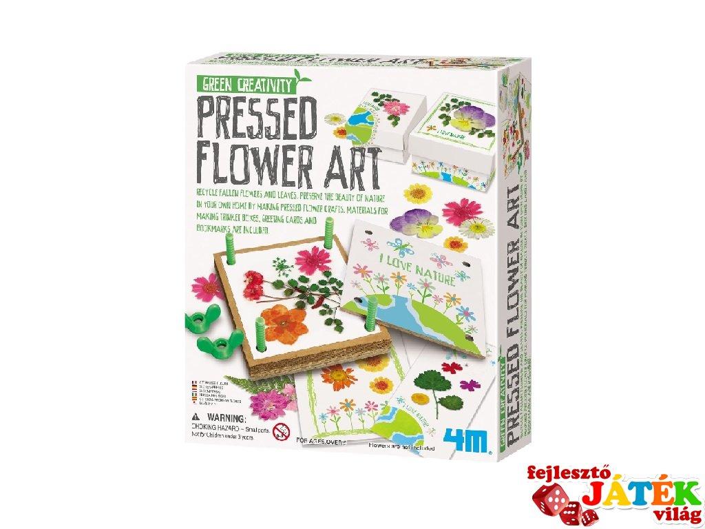 Virágpréselő készlet, kreatív szett (6-10 év)