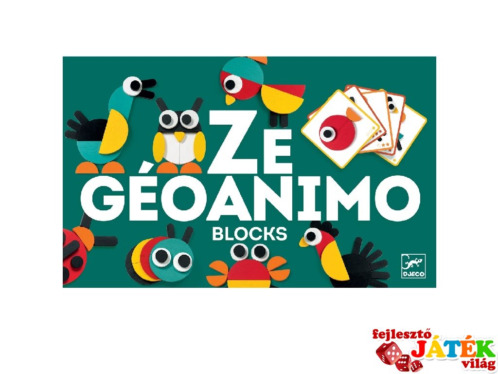 Ze Geoanimo, Djeco képkirakó geometrikus állatképek - 6432 (3-6 év)