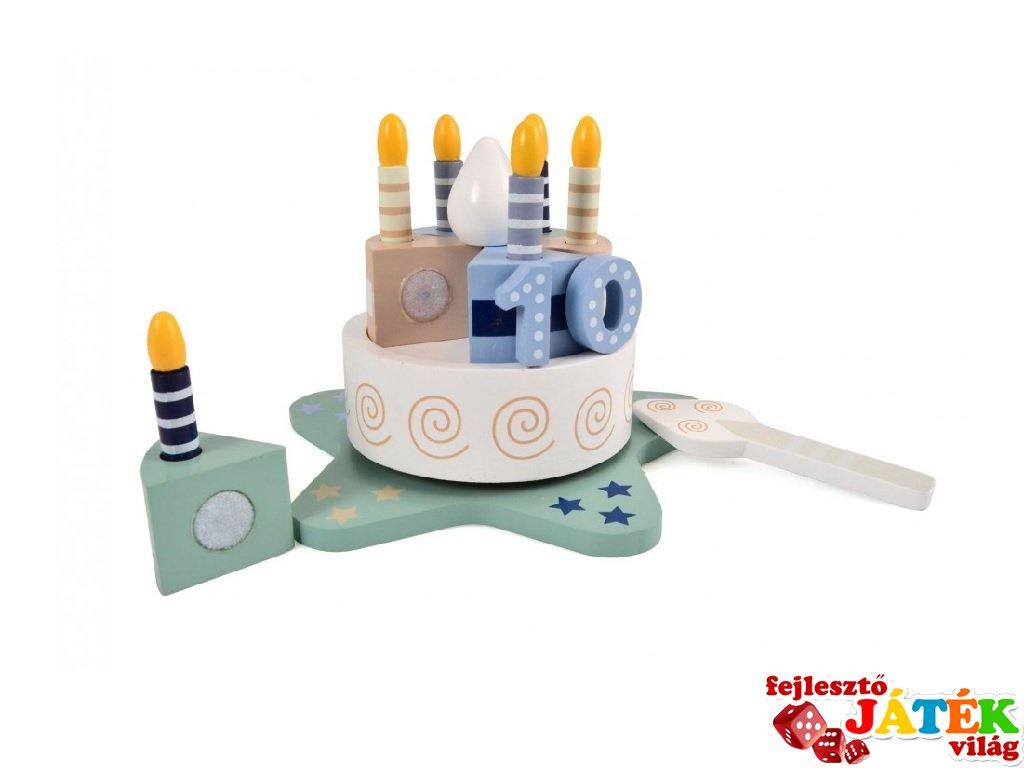 Zenélő torta számokkal, fa szerepjáték (Magni, 3-7 év)