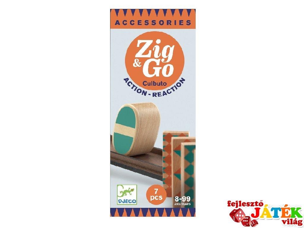 Zig&Go Sokasodó Culbuto, Djeco 7 db-os logikai építőjáték fából - 5648 (8-13 év)