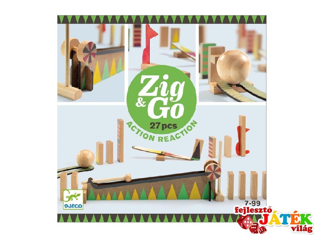Zig&Go Sokasodó, Djeco 27 db-os logikai építőjáték fából - 5641 (8-13 év)
